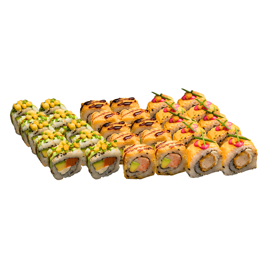 3 Rollos de Sushi