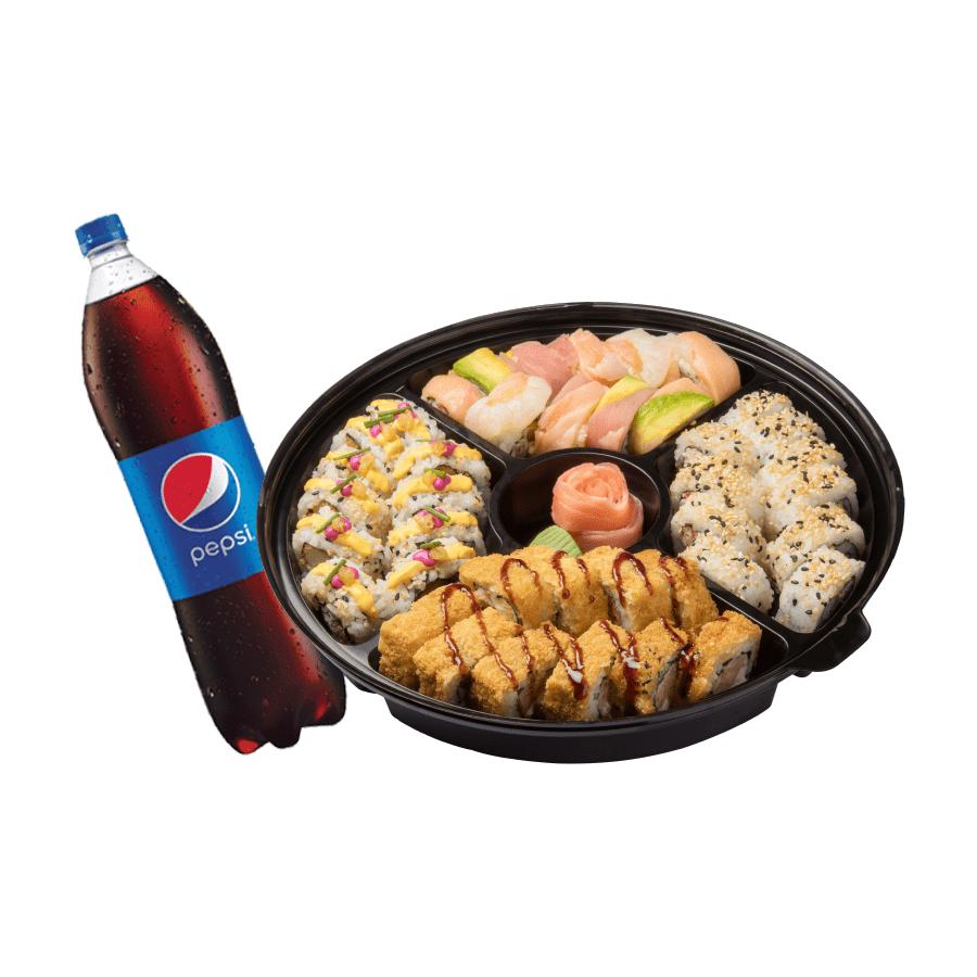 Sushi Familiar Arcoiris + Bebida Familiar